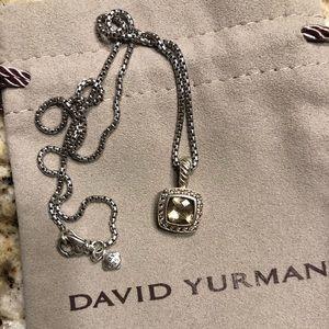 Davis Yurman Canary Yellow/Diamond Pendant